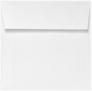 3.25 x 3.25 Square Envelopes 70# Bright White peel & press