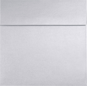 Square Envelopes - SILVER METALLIC- 5 in SQUARE Envelopes 80lbs Peel and Press