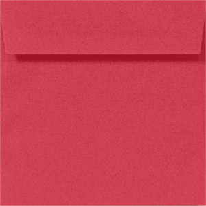 Square Envelopes - HOLIDAY RED- 5 in SQUARE Envelopes 60lbs Peel and Press