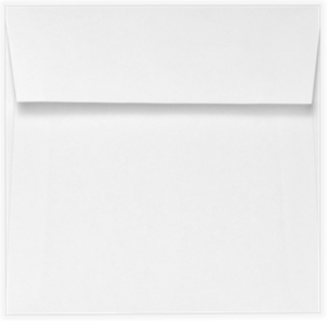 BRIGHT WHITE 6.25 Square Envelopes Peel and Press 70lbs