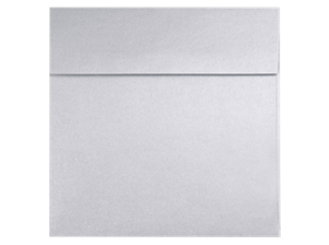 Square Envelopes - Silver Metallic - 8.5 in SQUARE Envelopes 80# PEEL & PRESS