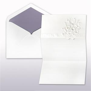 Passion And Pearl Printed .Stamped Calla Lily Fan Fold Cabinet of 50 Invitations Sets
