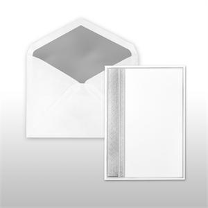 Silver Multi-Stamped Embossed Side Panel Cabinet of 50 Invitations Set