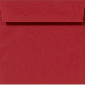 RUBY RED 5.25 Square Envelopes 80lbs Peel and Press