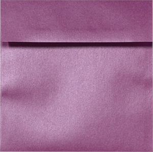 6 1/2 x 6 1/2 Metallic Square Envelopes Comes in 17 Bright Colors 80#