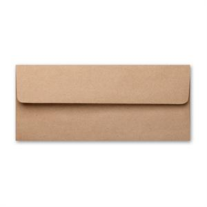 "Brown Bag Kraft #10 (4 1/8"" x 9 1/2"" ) Square Flap 70# Text Envelopes"