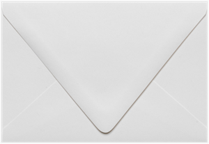 A6 Contour Flap (4 3/4 x 6 1/2) Recycled Envelopes White  80lbs Moistenable Glue