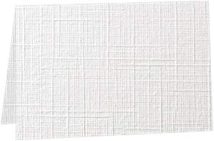 A2 Folded Card (4 1/4 x 5 1/2) White Linen 100#