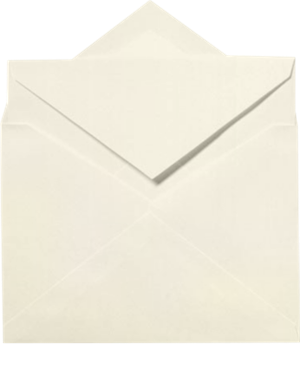 Windsor Inner Envelopes (No Glue) (6 x 8 1/4) Natural White  - 100% Cotton 80lbs