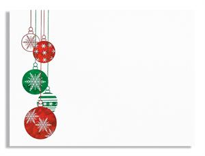 Christmas Ornaments,Red/Green Holographic Foil A-7 Card Set box 250