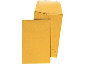 Coin #00 envelopes  Brown    Kraft    1-11/16 x 2 3/4