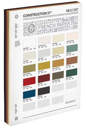 French Paper 8.5 x 11 - construction 80# Cover Comes in 18 Colors
