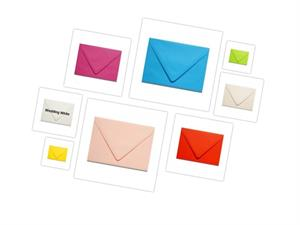 "Gmund Matt Colors 4 Bar Envelopes  (3 5/8"" x 5 1/8"") with Euro Flap 48 colors"
