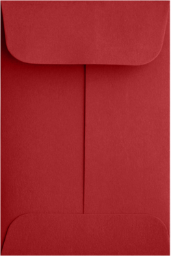 Coin envelopes #5.5 Ruby Red 80#  Peel and Press 3 1/8 x 5 1/2