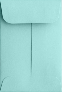 Coin envelopes #1 Seafoam 80#  Moistenable Glue 2 1/4 x 3 1/2