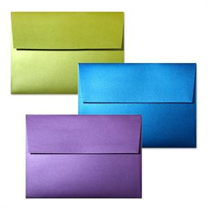 "So...Silk  A7 Envelopes  (5 1/4"" x 7 1/4"" )  made from 92# cover 8 elegant Colors"