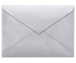 4 BAR Envelopes (3 5/8 x 5 1/8) Silver Metallic 80lbs Moistenable Glue