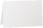 A6 Folded Card (4 5/8 x 6 1/4) White Linen 100#